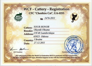 cattery certificate-200